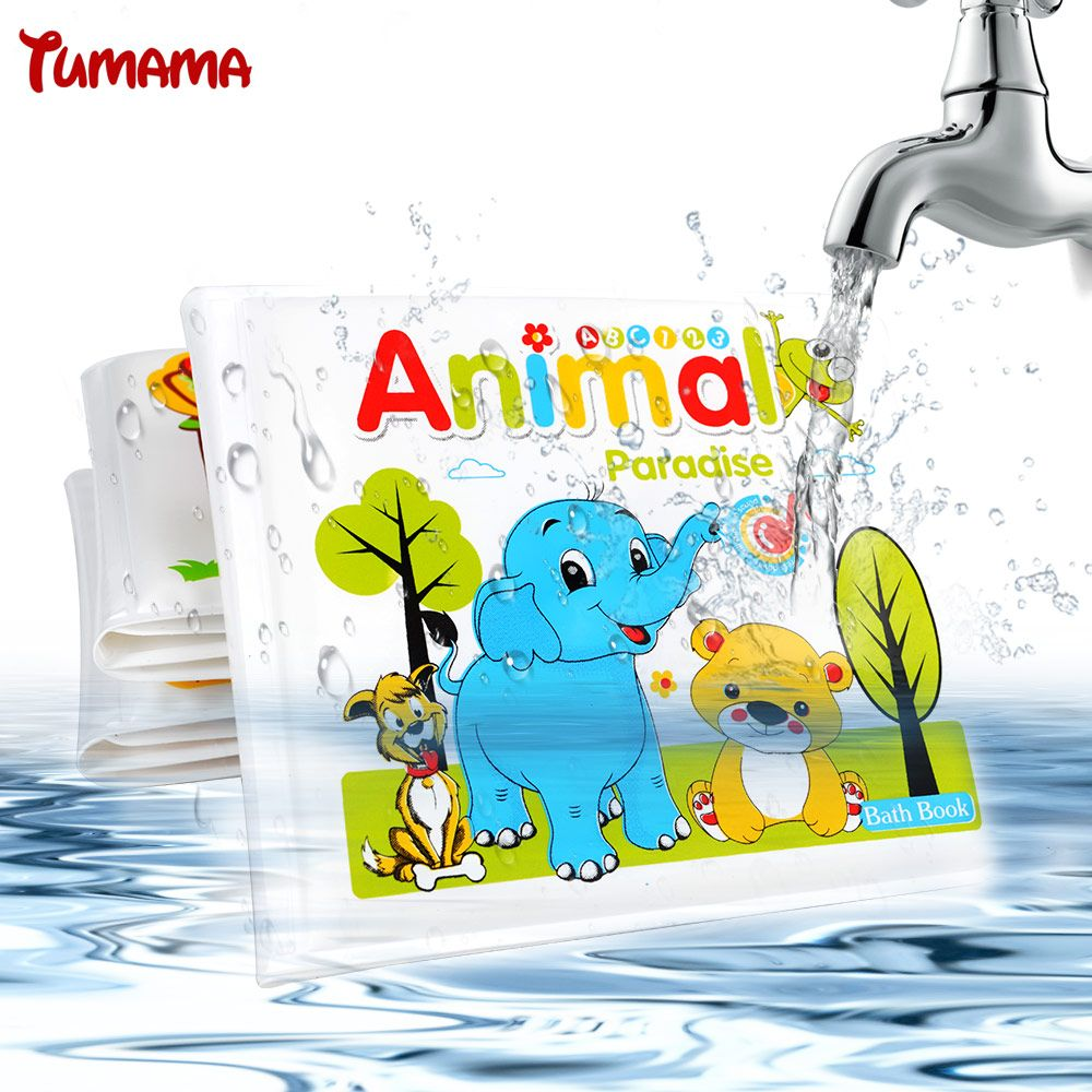 Waterproof Baby Bath Book For Kid Playing Bath Toys Learning Animal ...
