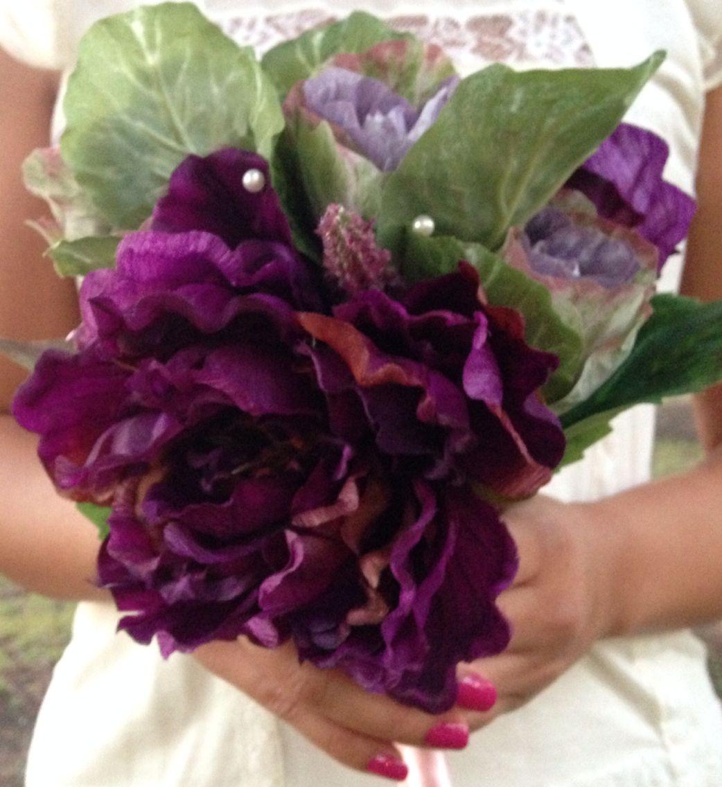 Loyalty & Faith purple bouquet. Elegant&Modern designs
