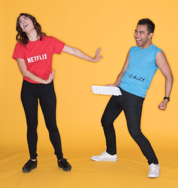 Netflix and Chill | Clever halloween costumes, Netflix and ...