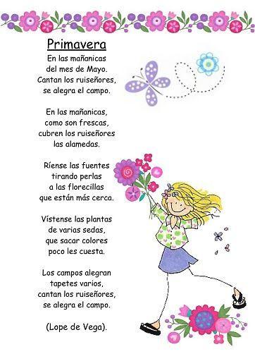 Poemas y rimas infantiles de la primavera | Estaciones | Pinterest ...