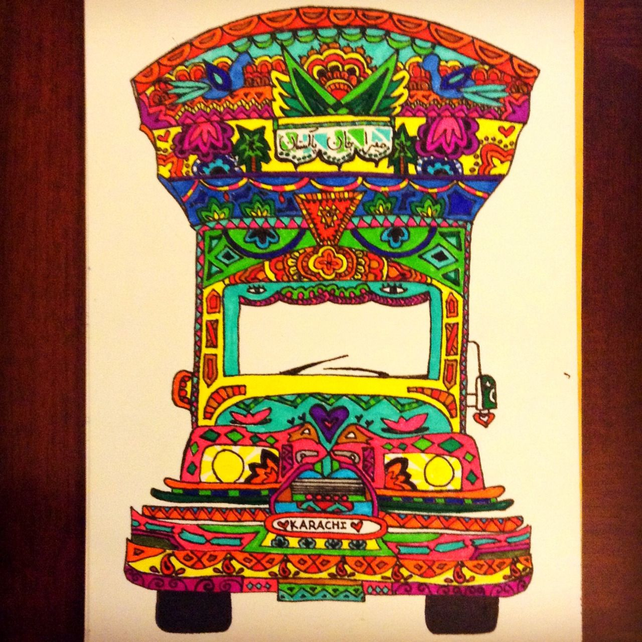 Intricate truck art patterns on mugs and kettles | Design ...