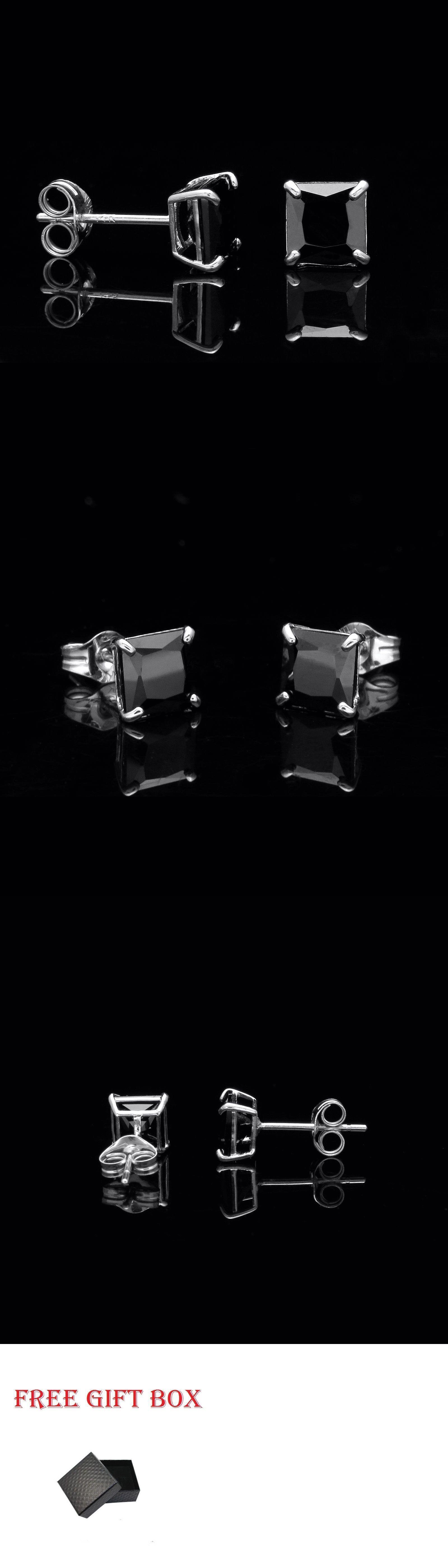 Diamond 1 00 Ct Princess Created Black Diamond Solitaire