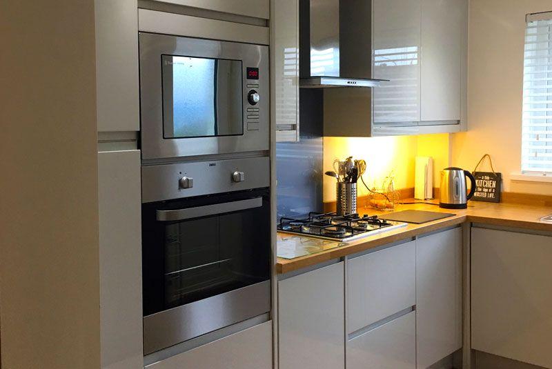Best An Innova Luca Gloss Dove Grey Handleless Kitchen Home 400 x 300