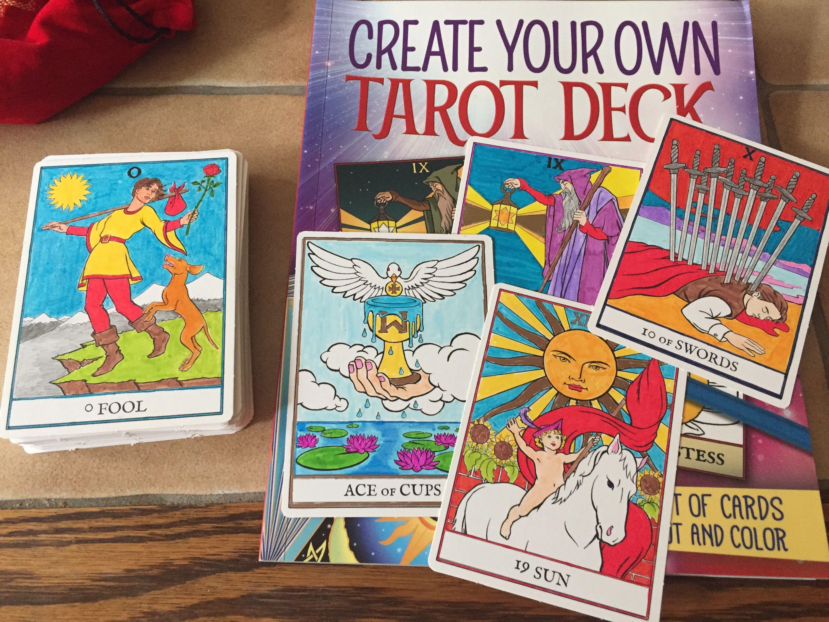 Tania Bouckaert Finished My Colour Your Own Tarot Deck Yay Tarot Decks Tarot Cards