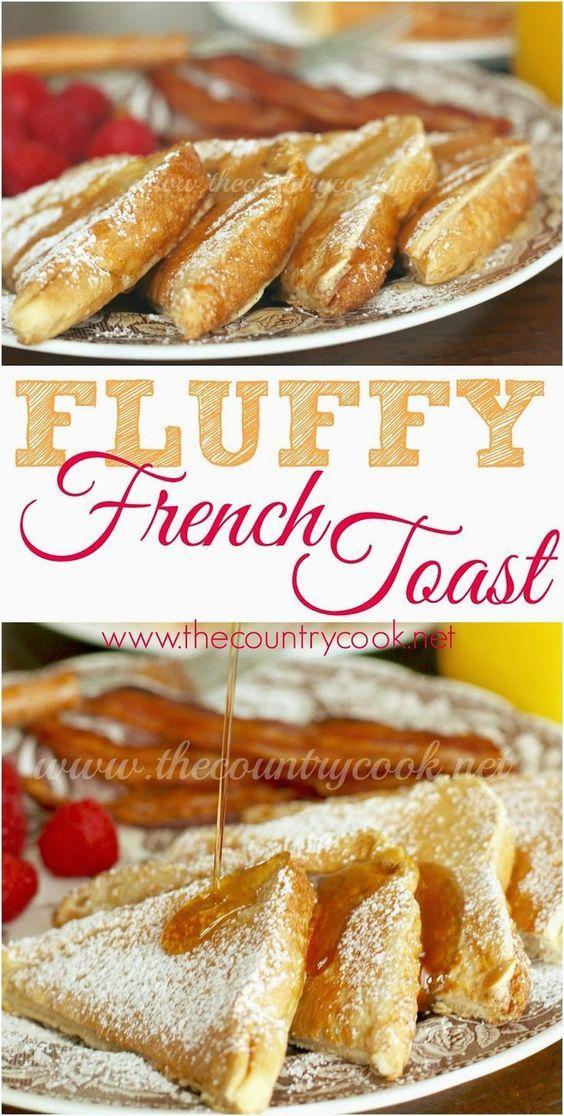 FLUFFY FRENCH TOAST Fluffy french toast recipe, Yummy