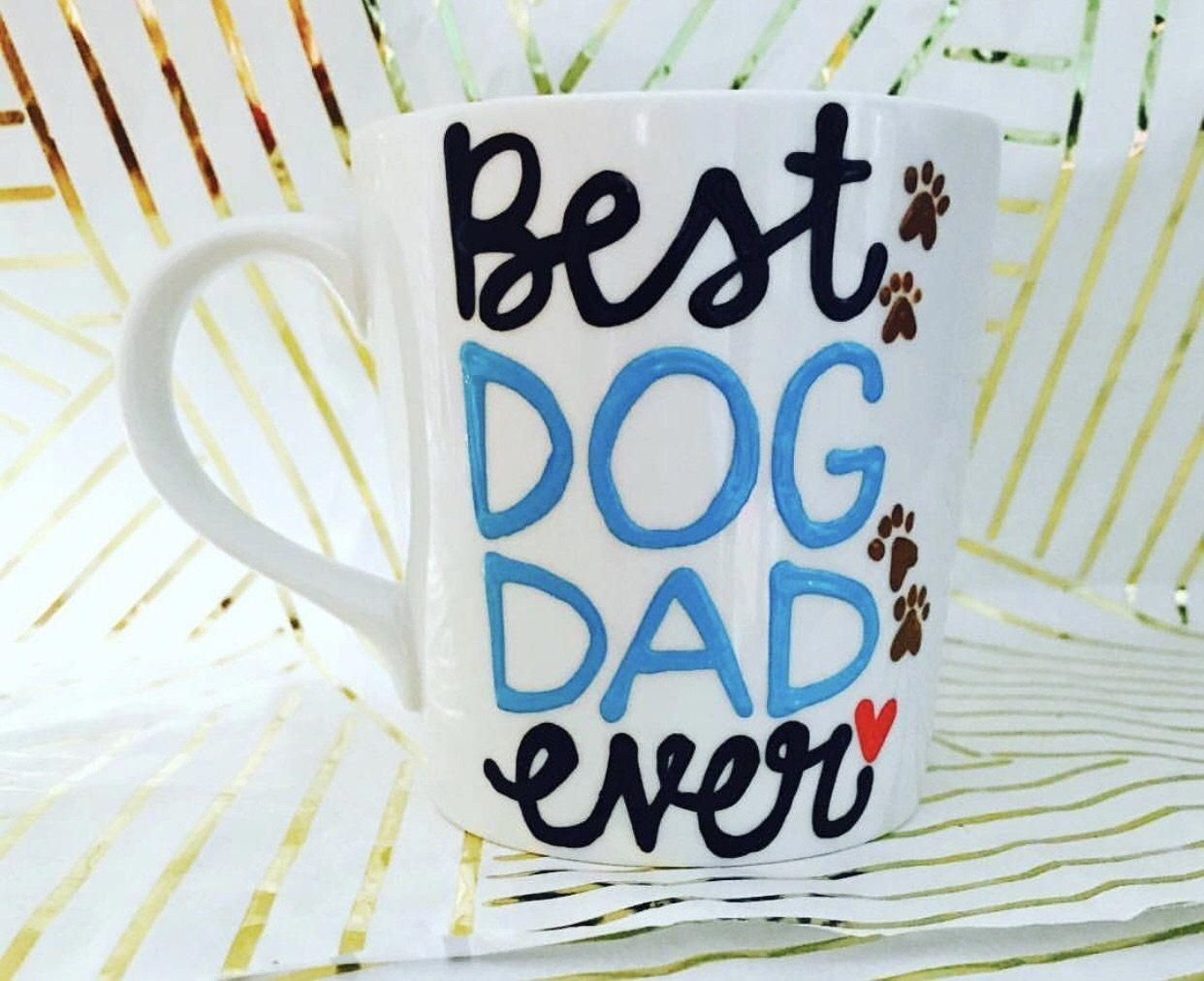 Best dog dad ever mug fathers day gift gifts for dads