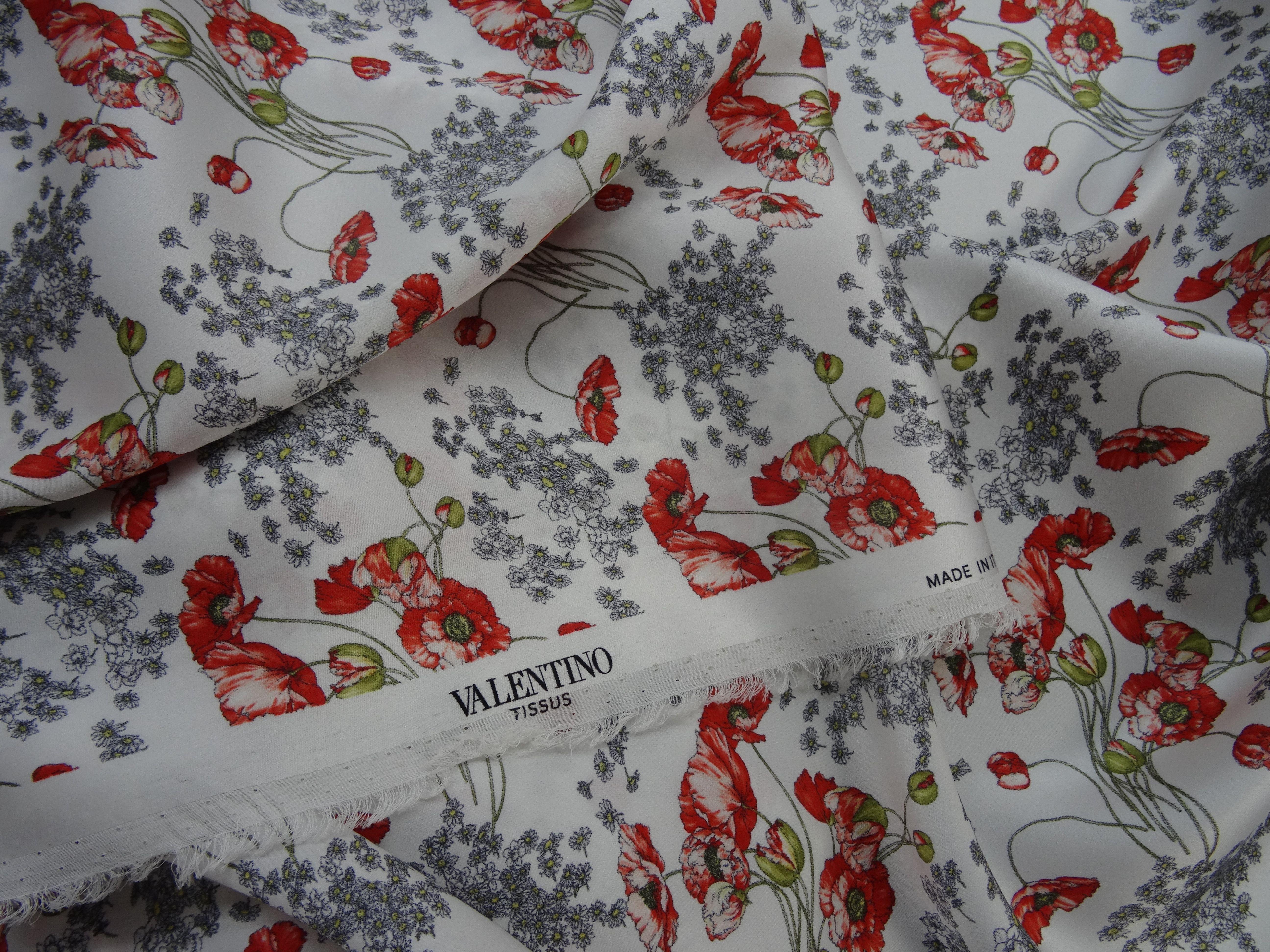 Valentino Fabric At Jasons Shop Of London Silk Flowers Designer