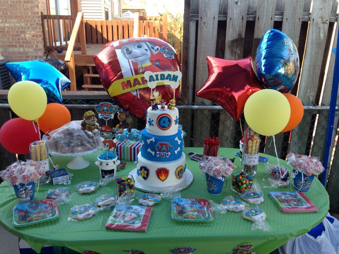 Paw Patrol Sweet Table Boy Birthday Birthday Parties Birthday Party Invitations