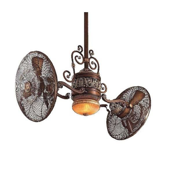 Minka Aire F502 Bcw Gyro 6 Blade 1 Light Ceiling Fan In Oil