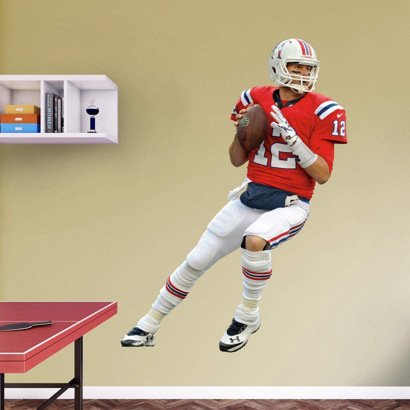 Fathead NFL New England Patriots Tom Brady Throwback Wall Decal - 12 ...