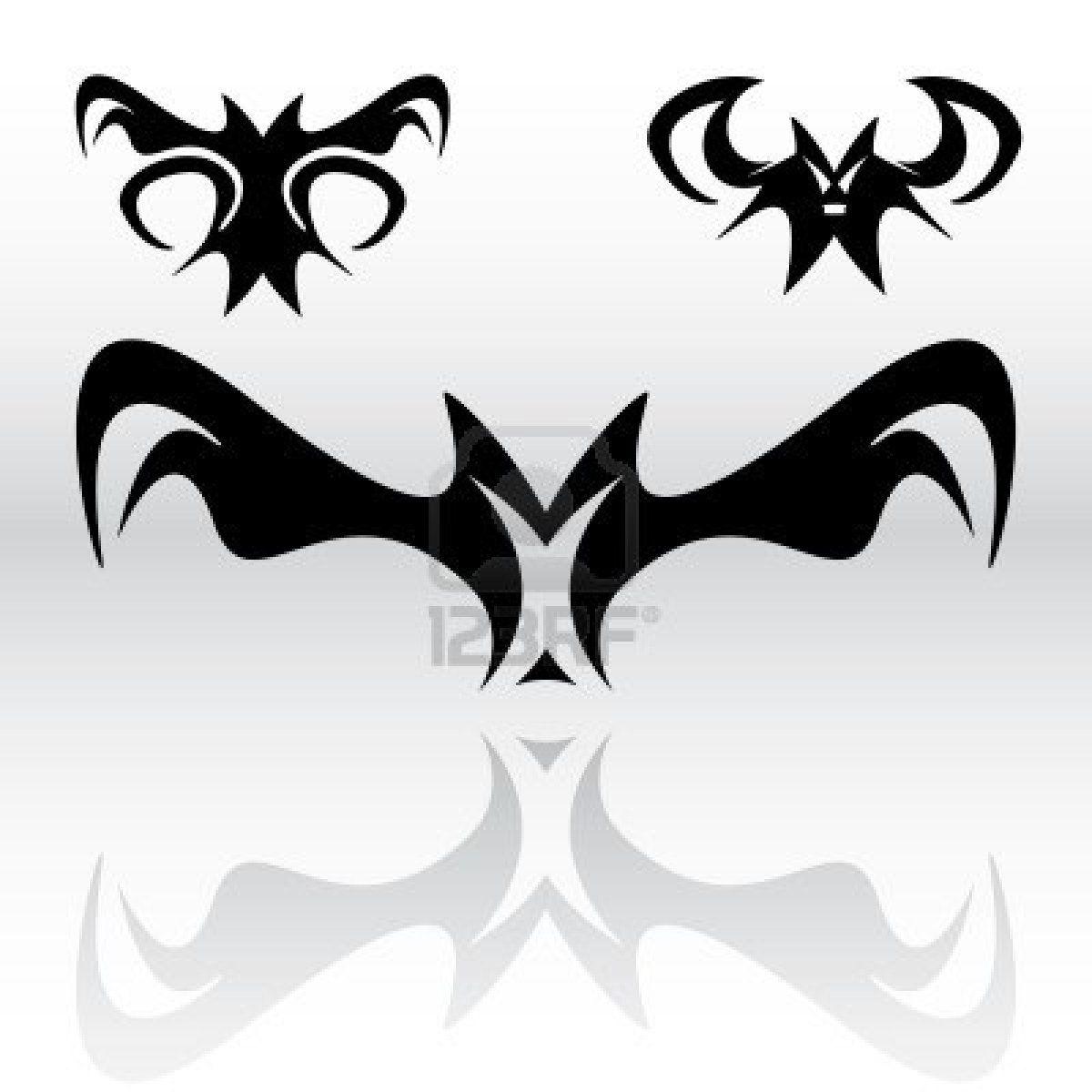 Three Different Original Vampire Bat Tattoo Design 1200x1200