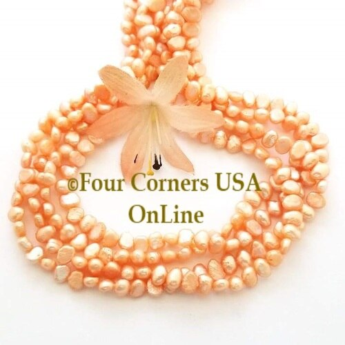 Peach Color Flat Sided Freshwater Pearl Bead Strands Special Buy Final Freshwater Pearl Beads Bead Strand Pearl Beads