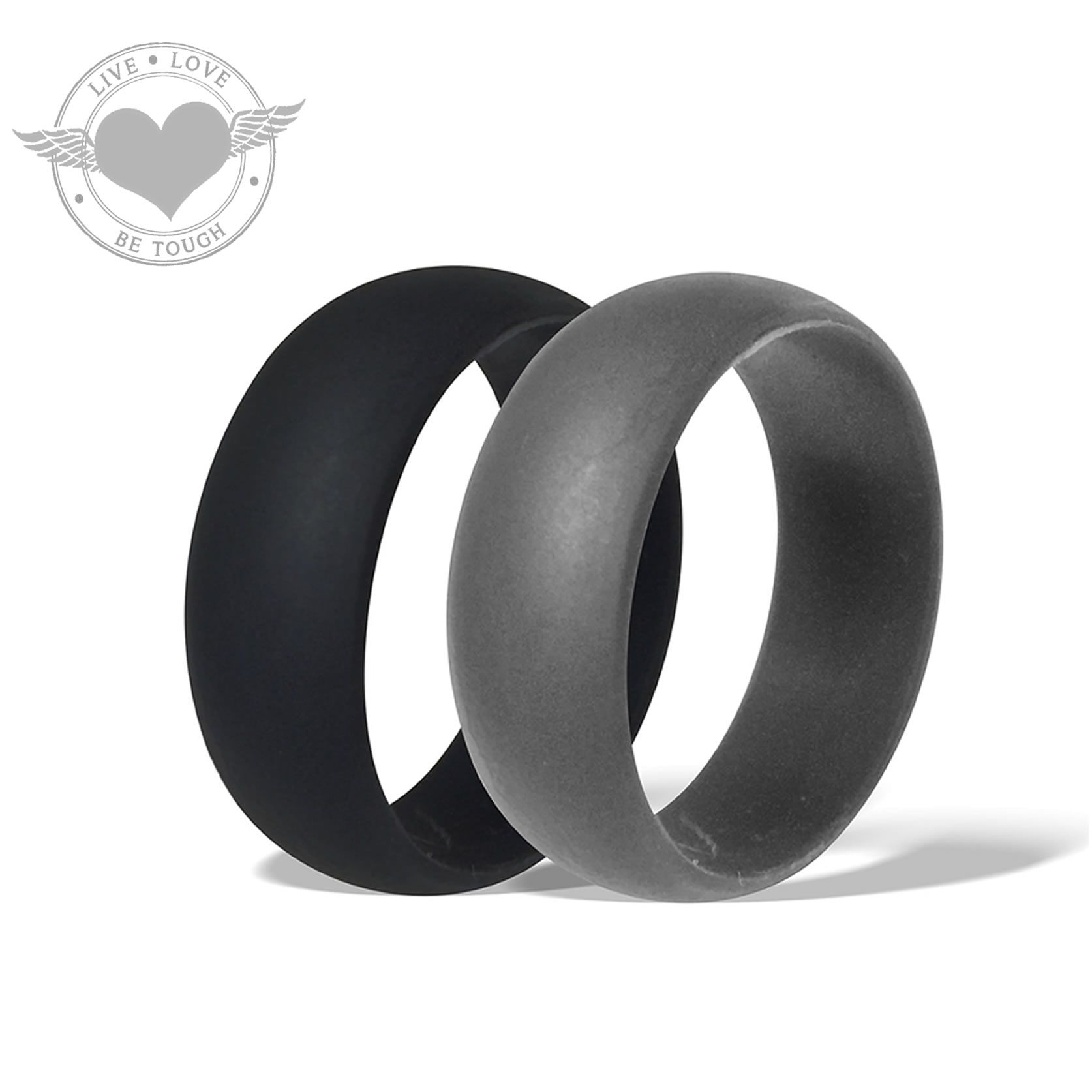 keepfit silver rings metal silione gun ring silicone products metallic wedding