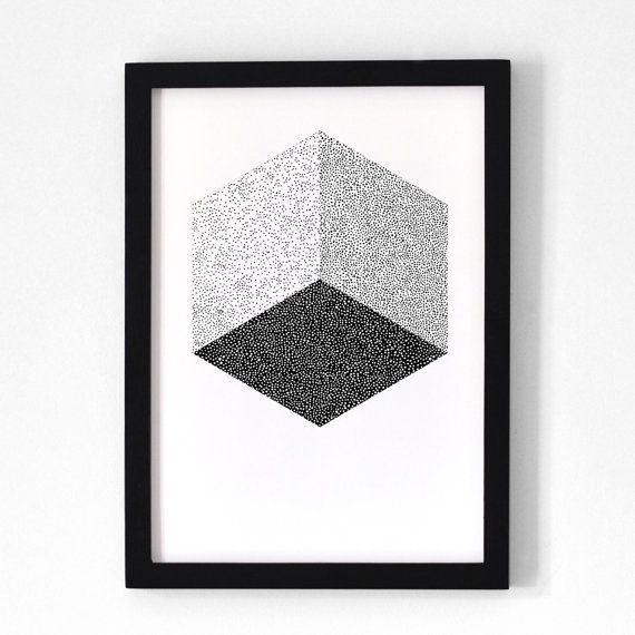 Cube / Poster 30x40 cm