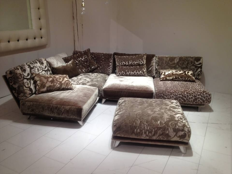 napali in beige / grey velvet combination. sectional sofa. made in, Mobel ideea