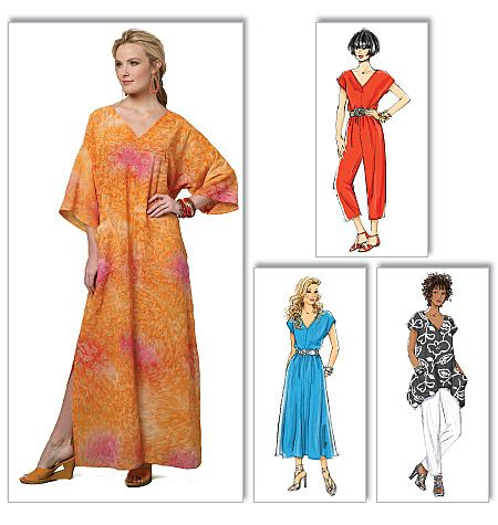 B5652 Butterick Schnitt Kaftan Tunika Hose easy | dresses ...