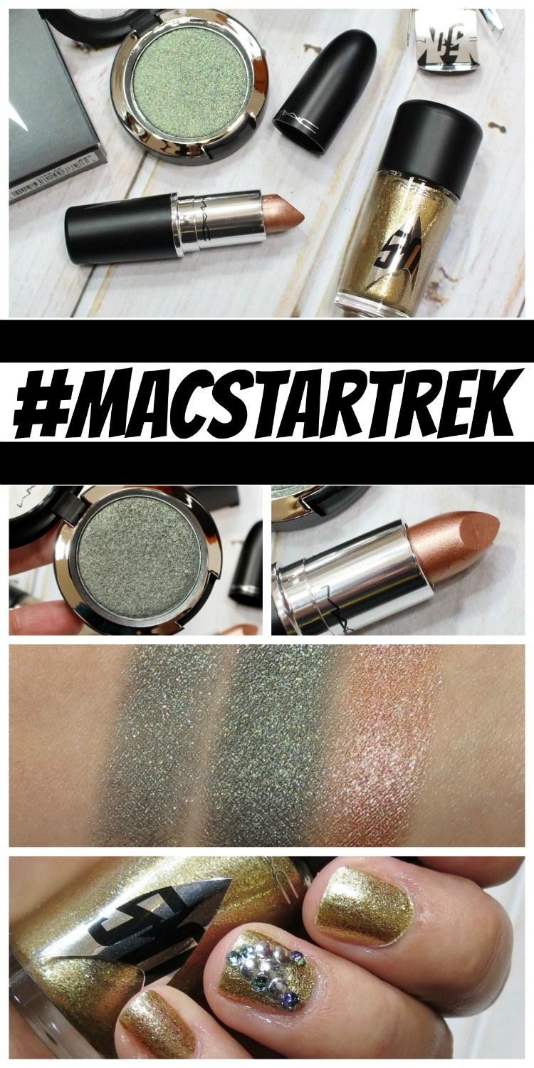 MAC Star Trek Collection Swatches + Review