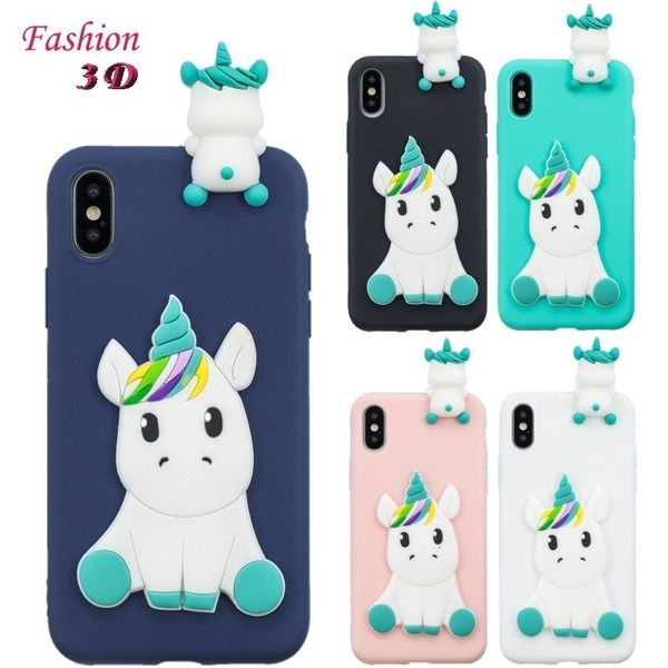 3D Unicorn Pattern Soft Silicone Case