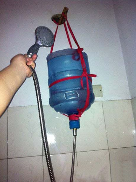 Homemade shower