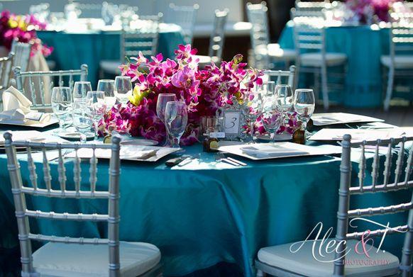 Caribbean Islands Tiffany Blue Wedding Reception