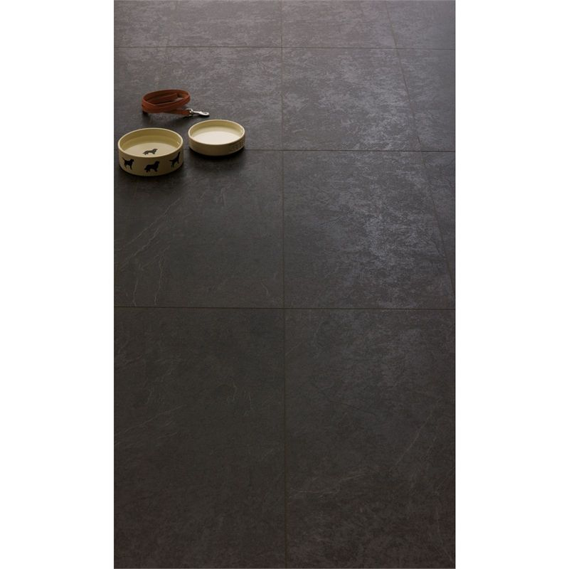 Find Black Travertine Tile Effect Laminate Flooring At Homebase Visit Your Local For The