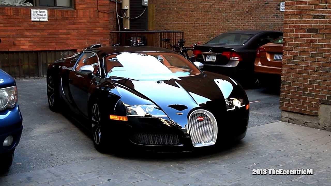 Rapper Drakeu0027s Bugatti Veyron Sang Noir In Downtown Toronto (Yorkville)