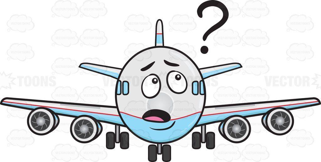 Clueless Jumbo Jet Plane Looking At Floating Question Mark Sign Emoji Jumbo Jet Jet Plane Plane Emoji