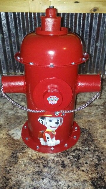 Paw Patrol Valentine Box. Made From: Bolts, Bug Juice Cap, Toilet Paper