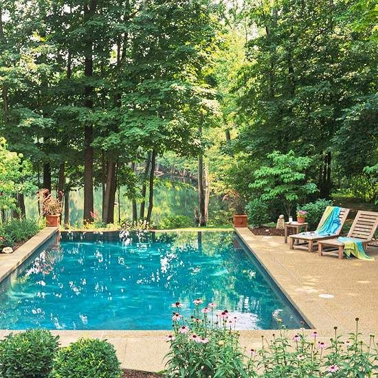 10 Ideen Pool Im Garten Waldumgebung