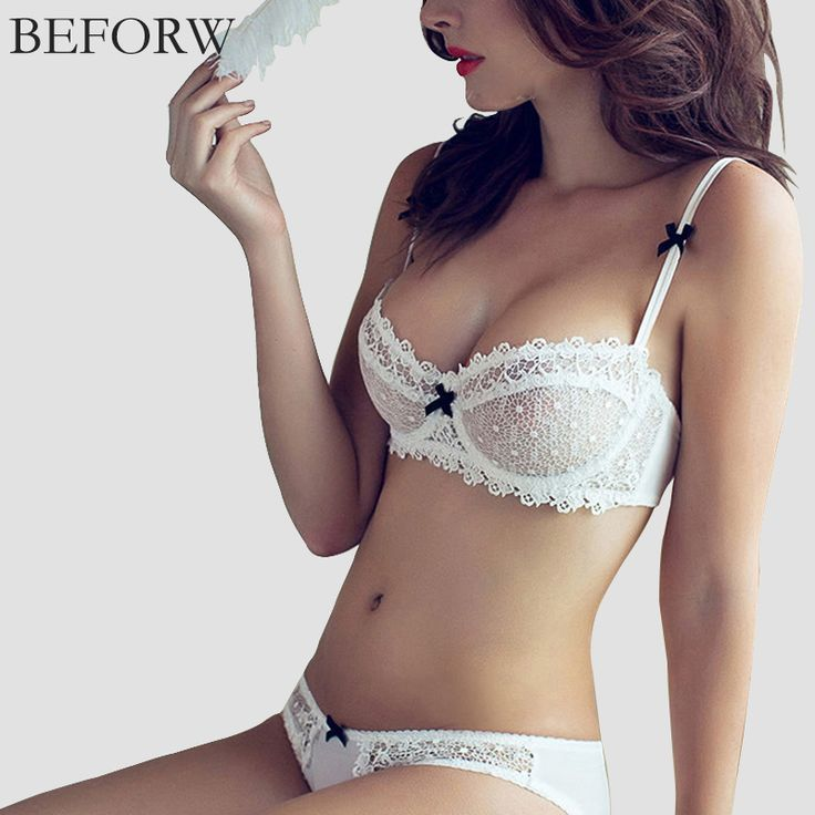 edd1a6921a BEFORW Lingerie Sexy Lace Bra Set Brand Victoria Underwear Ultra thin  Transparent Women Bra Set Girl Sexy Bra And Panty Sets-in Bra   Brief Sets  from ...