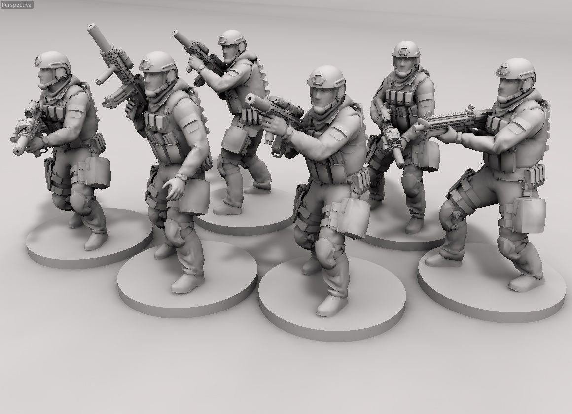 Delta Force, wargames 28mm modern war-games | 28mm wargames | 28mm