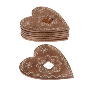 Wooden heart shaped coasters