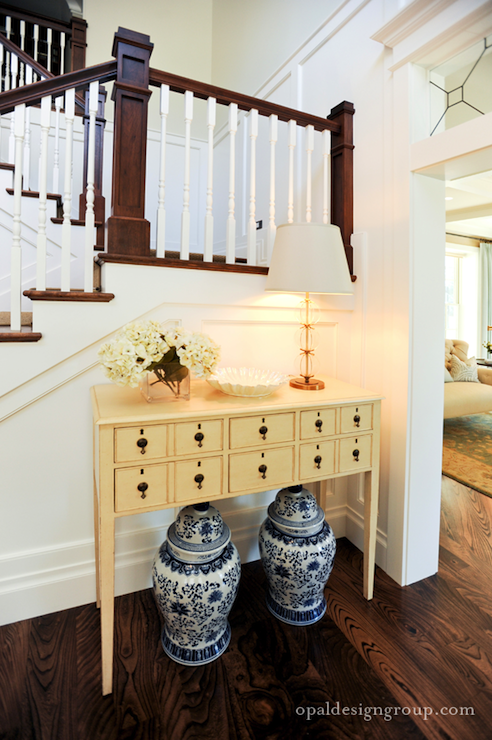 Suzie: Opal Design Group - Eclectic foyer with Ming ginger jars ...