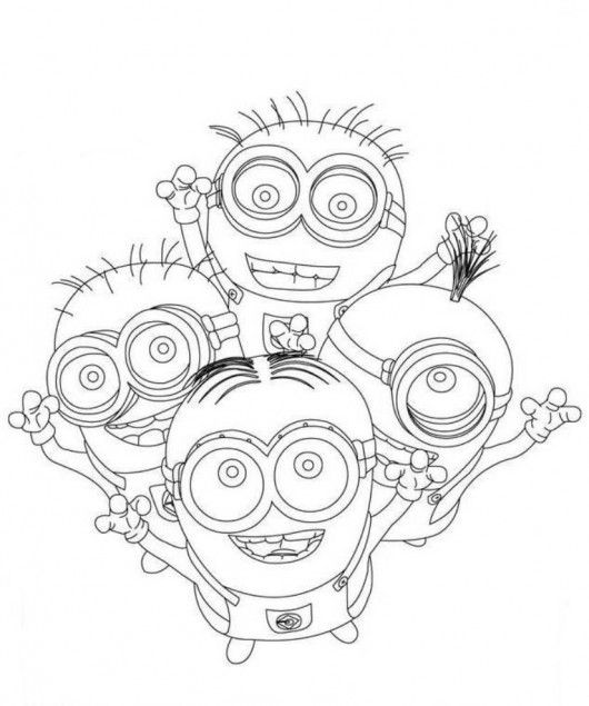 Despicable Me Minions Printable Coloring Pages Cute Free Online And