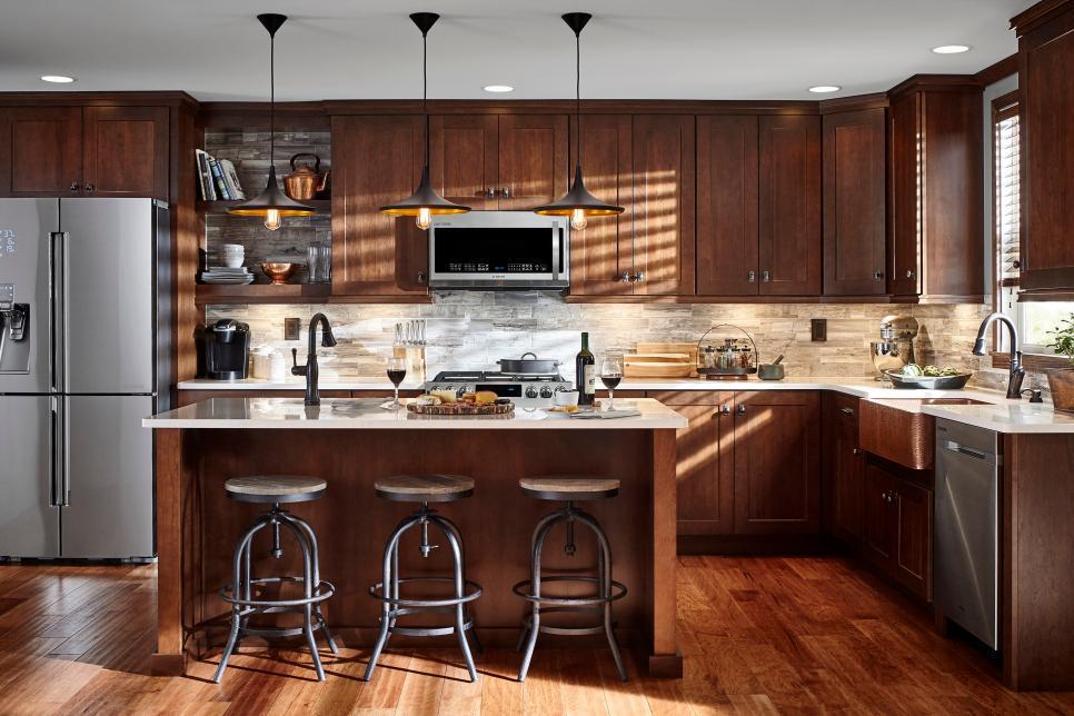 15 cheap but glam cabinet updates for kitchens outdoor kitchen countertops hgtv kitchens on outdoor kitchen backsplash id=98547