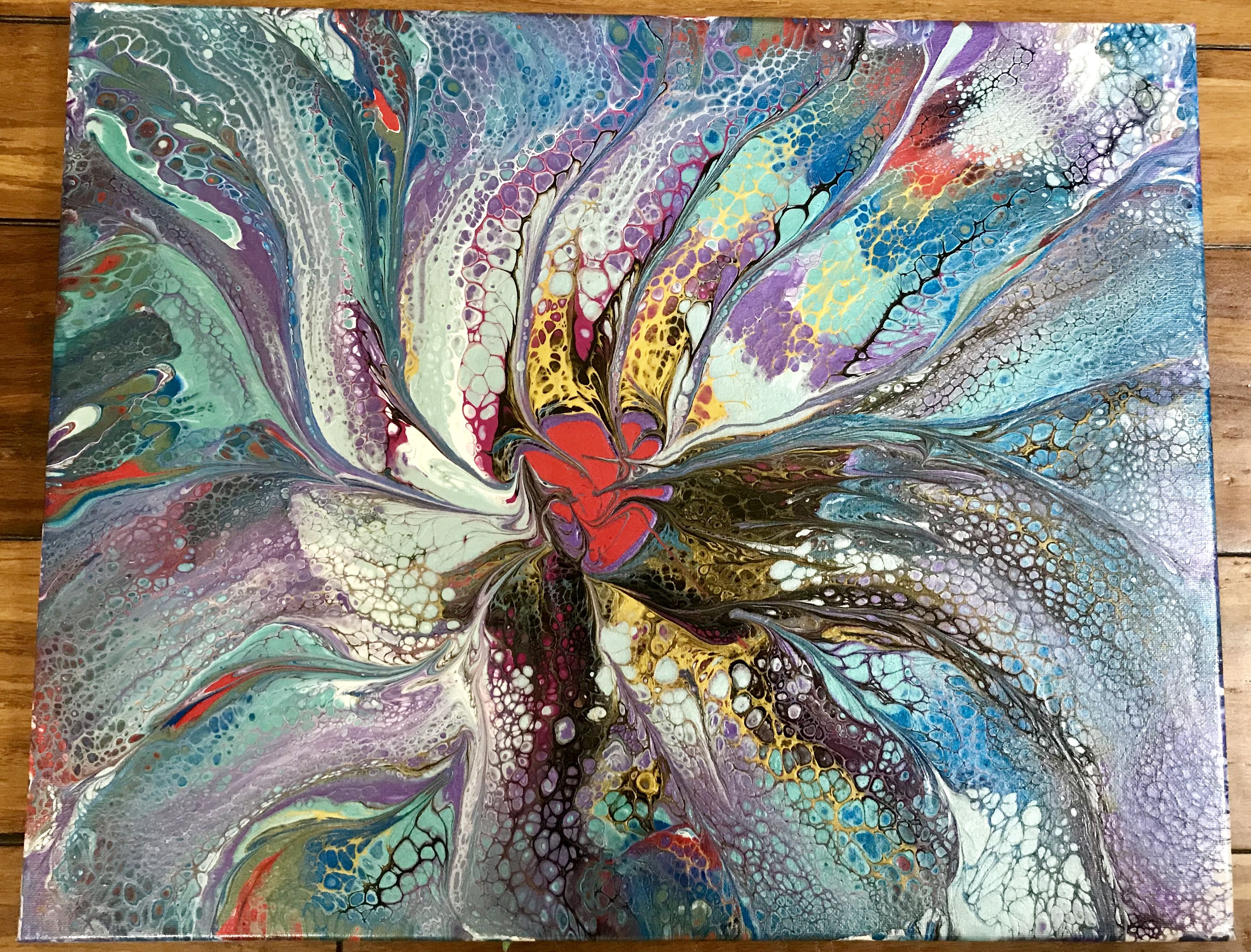 The Heart Gives Forth Acrylic By Jan T Adams In