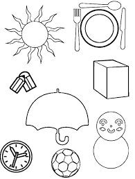 Resultado De Imagen Para Imagenes De Objetos Redondos Para Colorear Forma Geometrica Atividades De Alfabetizacao Educacao Infantil