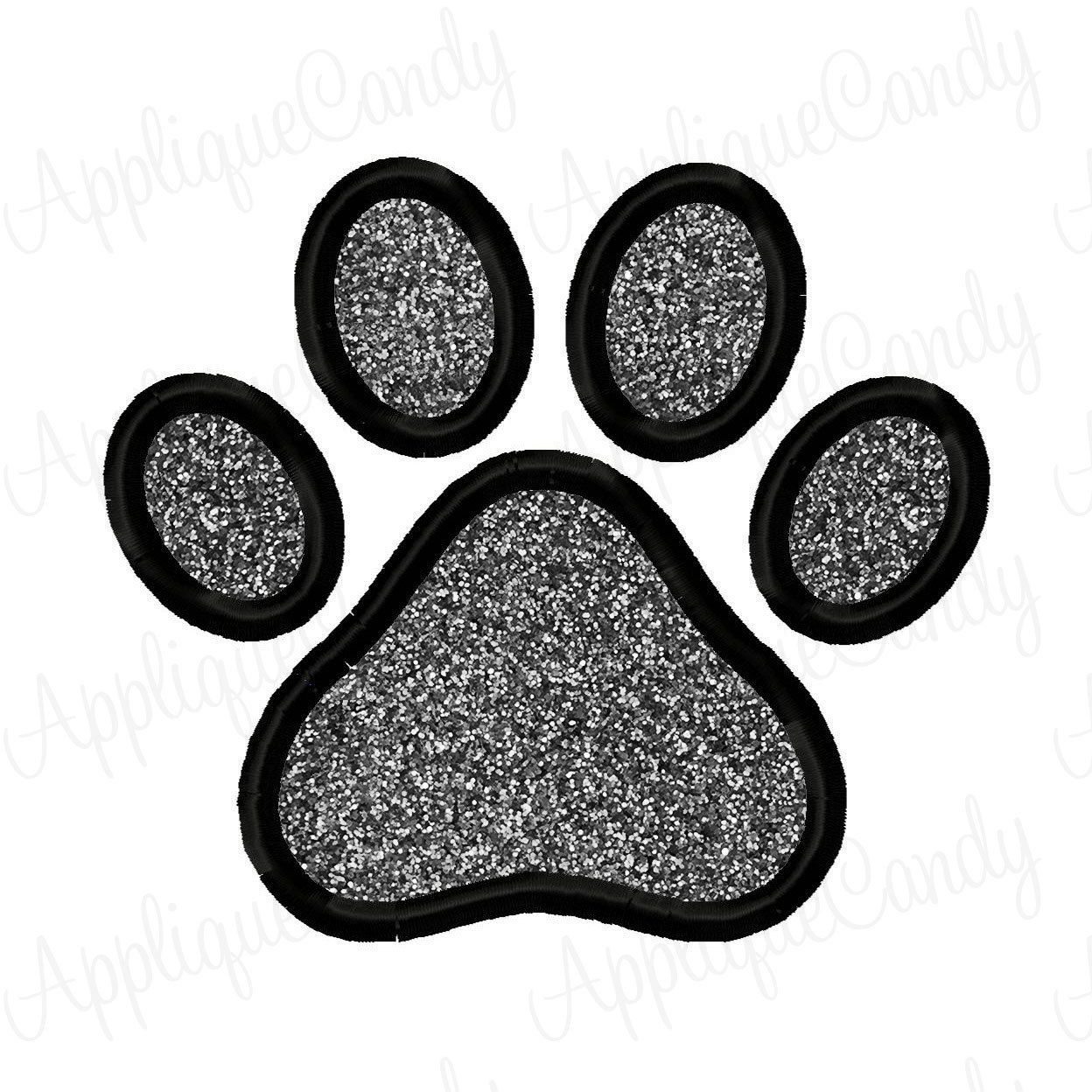 Paw Print Applique Embroidery Design 3x3 4x4 5x7 6x10 INSTANT ...