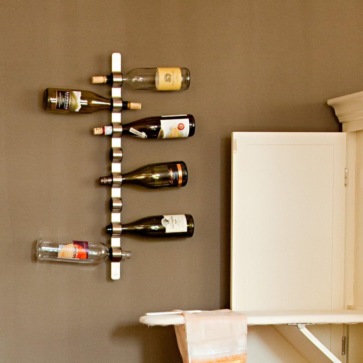 Blomus cioso 8 bottle wall mounted wine rack hanging for Wall mount wine rack