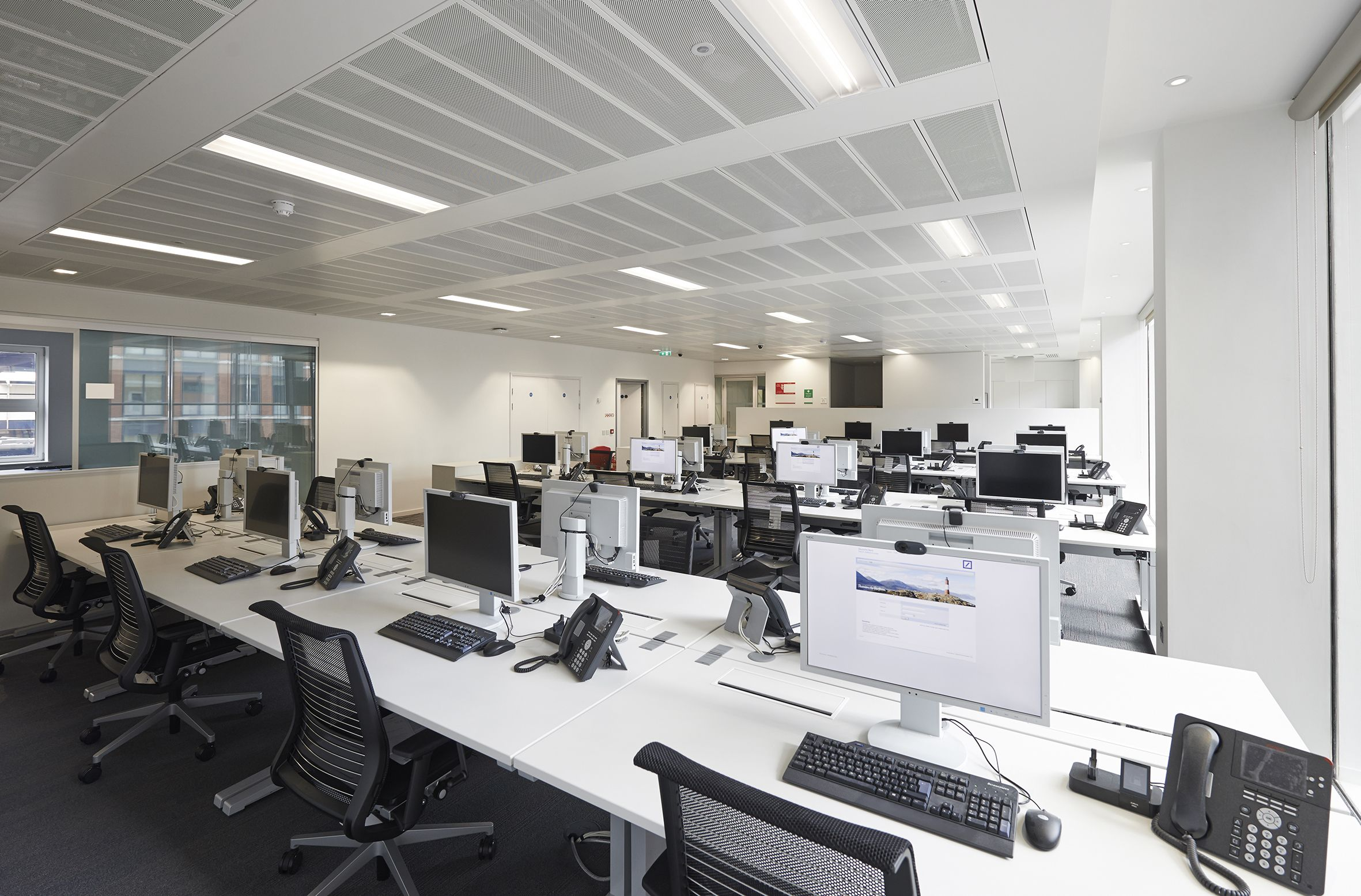 Office lighting at Deutsche Bank head offices. Home