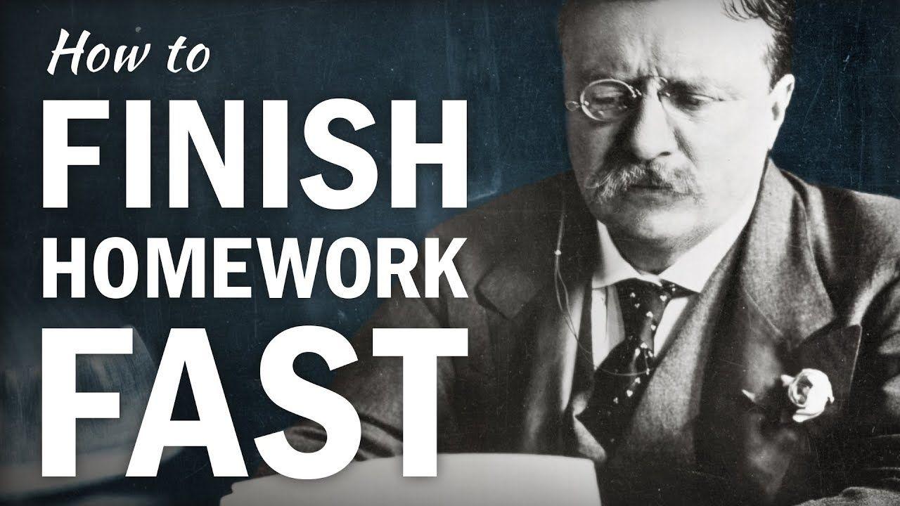 How to Finish Homework FAST YouTube Math methods