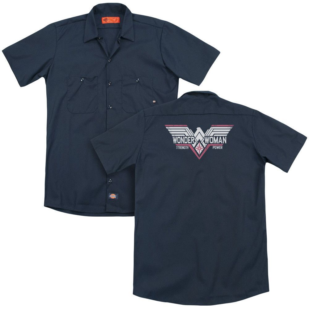 Batman V Superman - Thunder Logo Adult Work Shirt