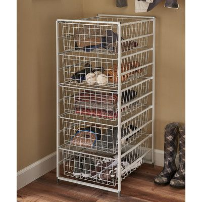 ClosetMaid 5 Drawer Basket Organizer Kit U0026 Reviews   Wayfair