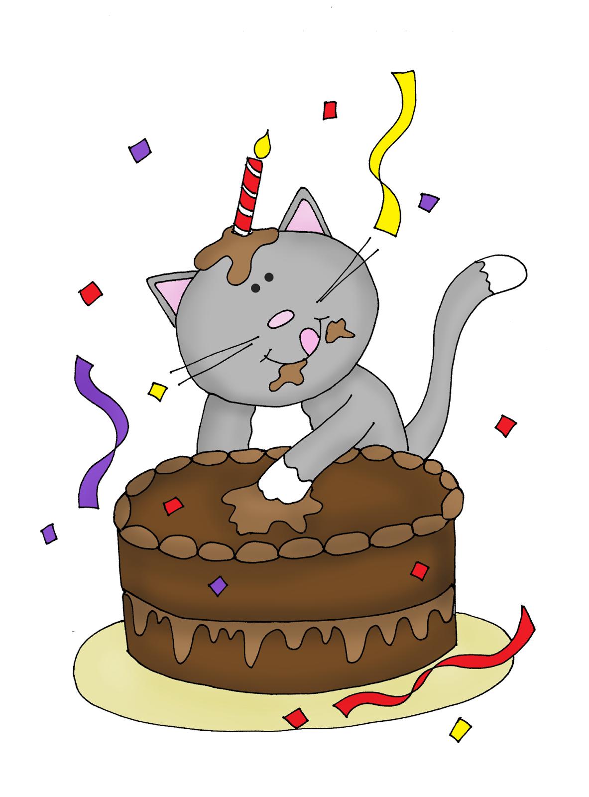 Happy Birthday Kitty   Digi stamps, Cat birthday
