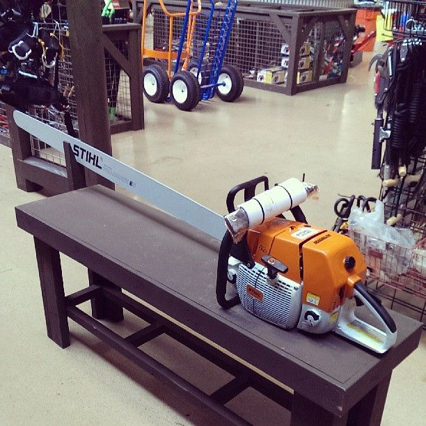 The biggest stihl chainsaw you may ever see  We sell them at