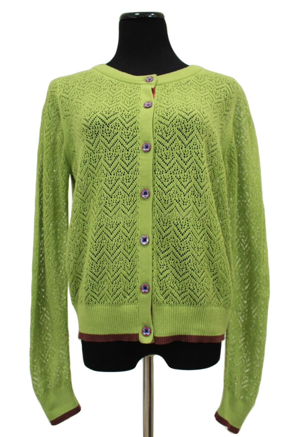 1c84170587c69 Matilda Jane Green Crochet Knit Cardigan Sweater Size L