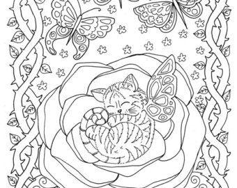 5 pages Beachy Escape numérique couleur pages à colorier
