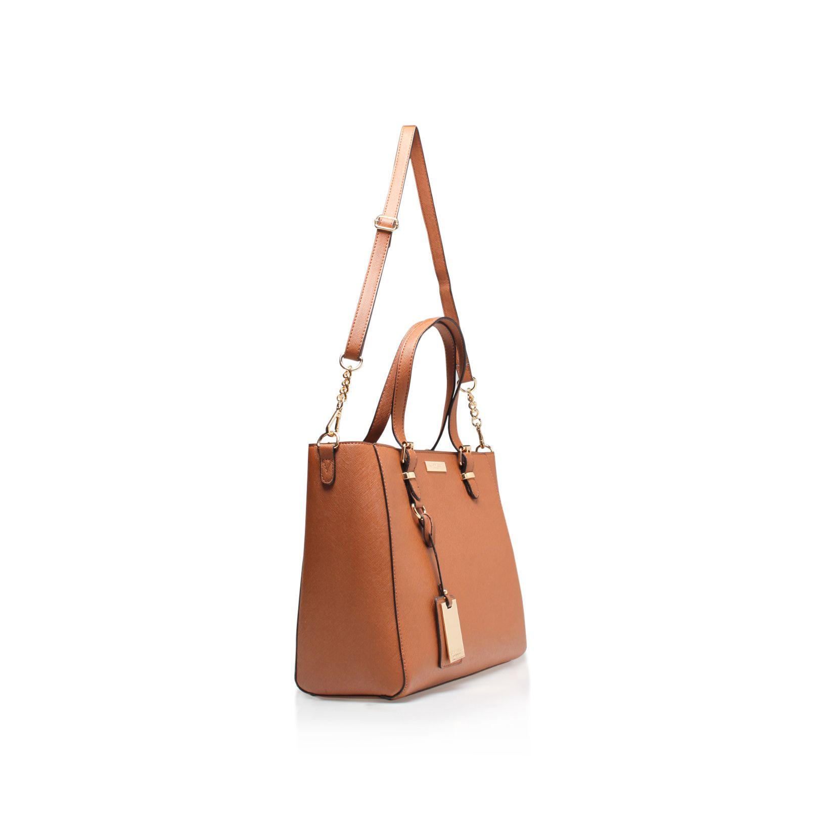 Dina Winged Tote Tan Bag By Carvela Kurt Geiger
