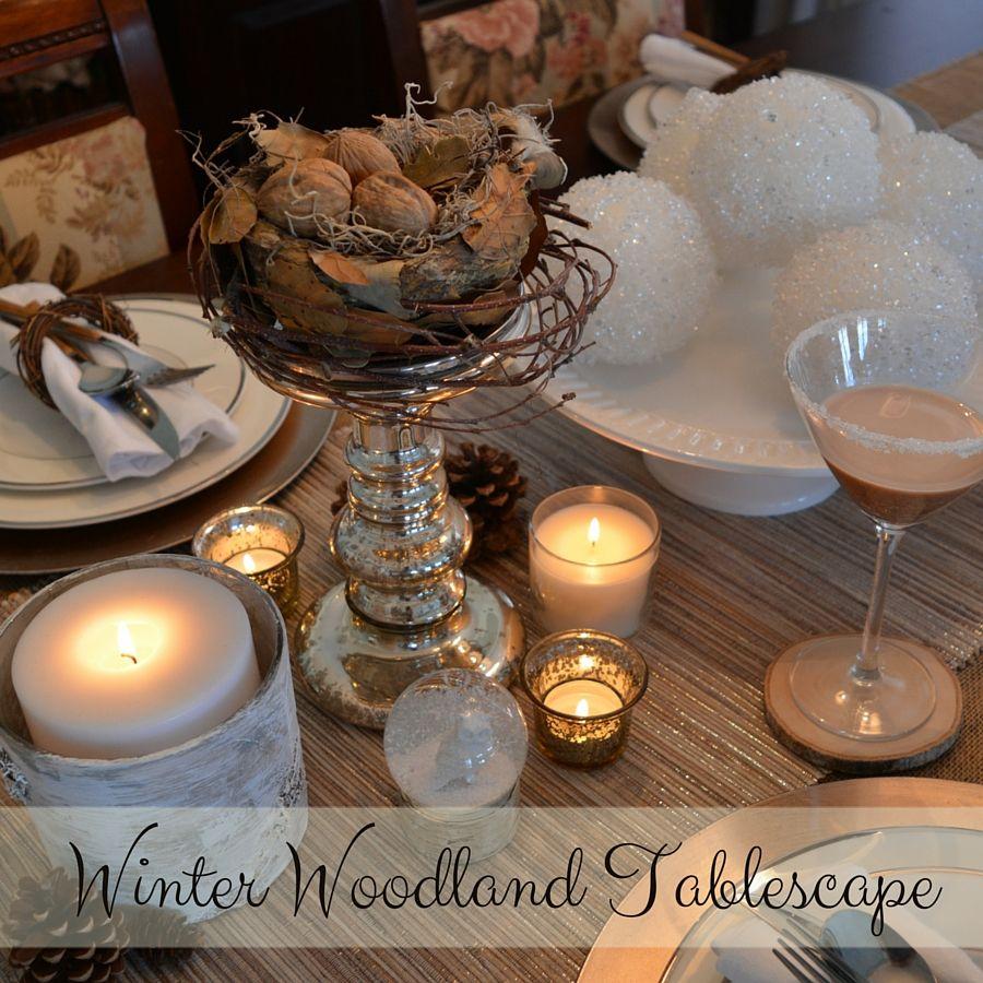 Winter Decor | Winter Woodland Tablescape | My Creative Happy