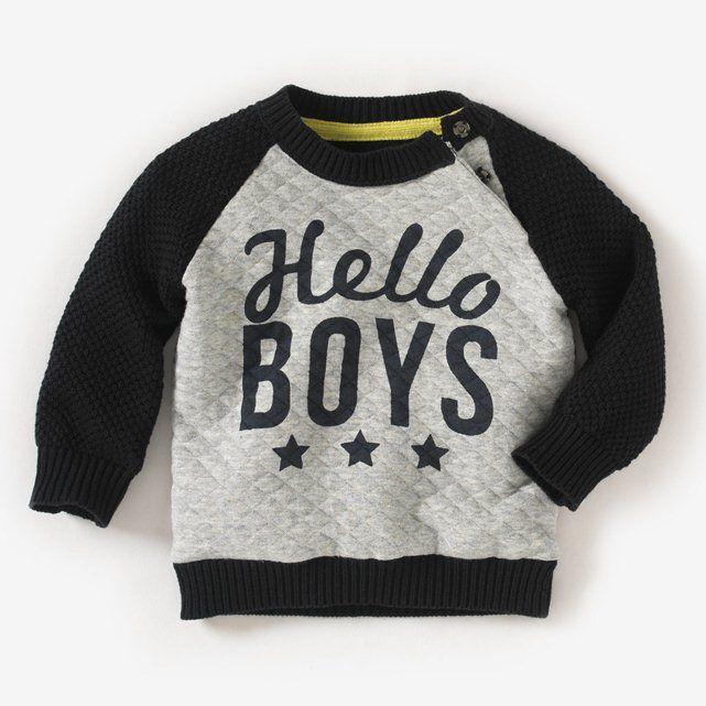 Long-Sleeved Dual Fabric Sweatshirt R baby